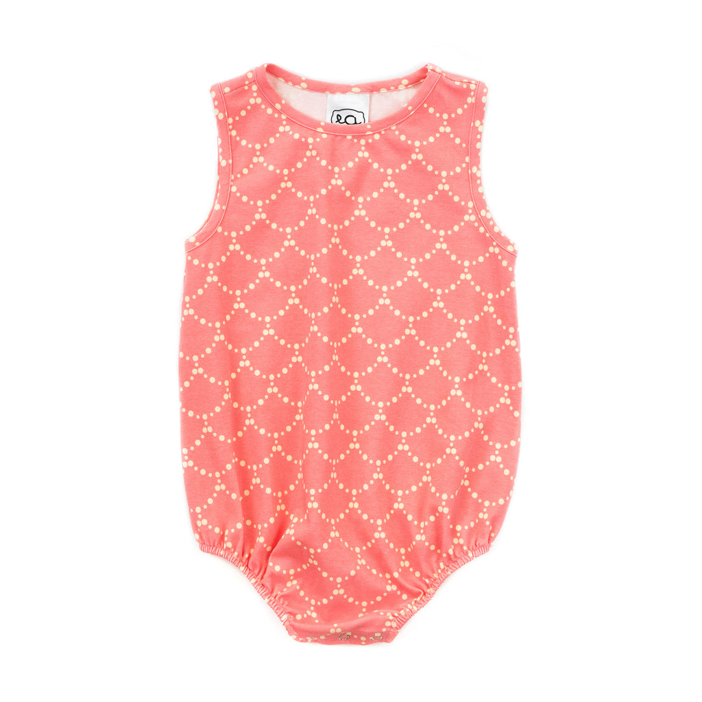 sleeveless knit baby girl bubble // rose banner