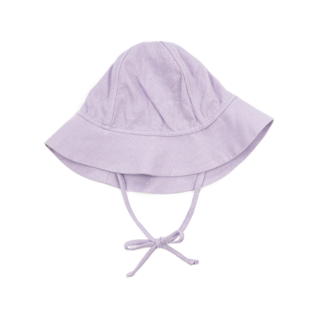 leigh baby sun hat // lilac linen