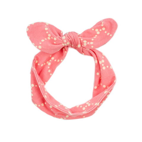 fabric knot headband // rose banner