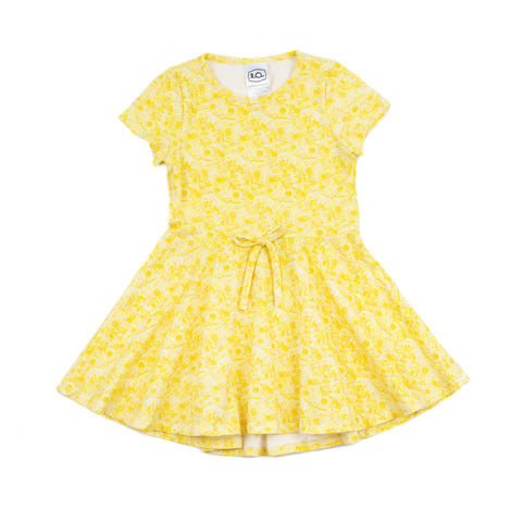 frances dress // yellow floral