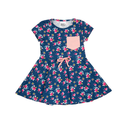 frances dress // navy flowers