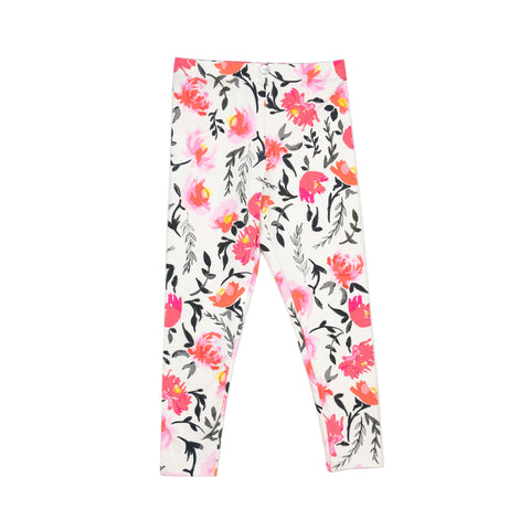 lulu full length legging // pink floral