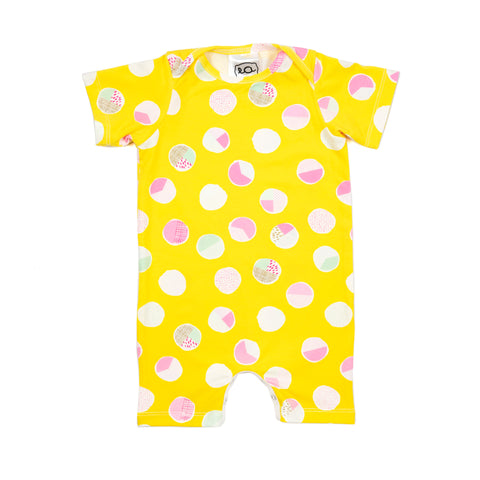 willow romper // yellow dot