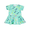 jane baby dress // teal floral
