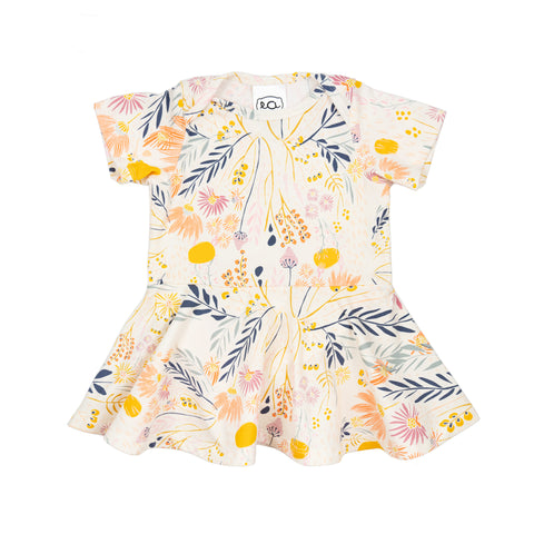 jane baby dress // cream floral