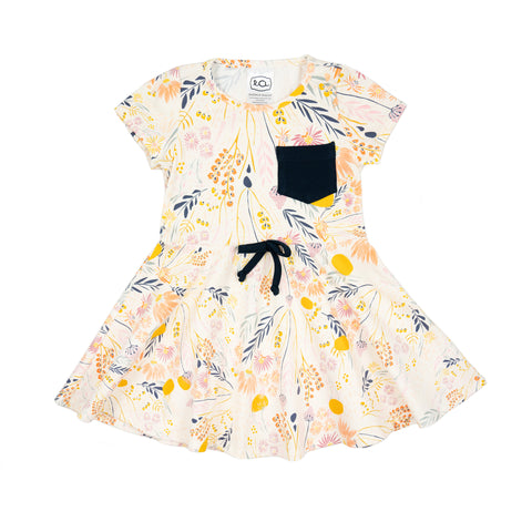 frances dress // cream floral
