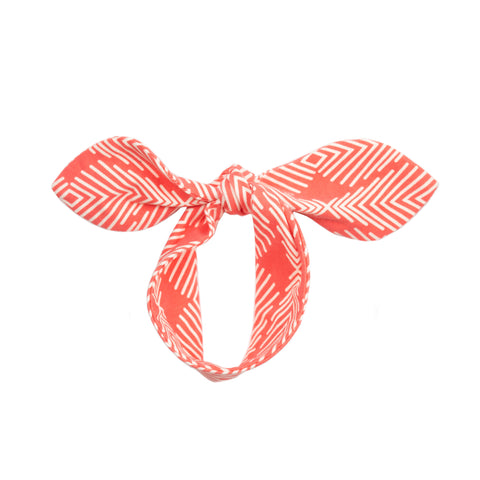 fabric knot headband // poppy lines