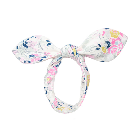 fabric knot headband // multi floral