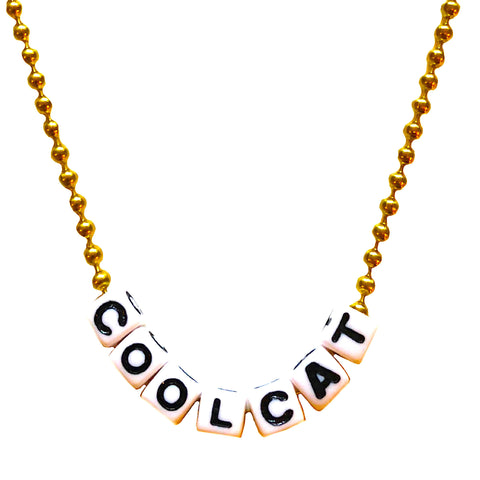 cool cat necklace // little lux
