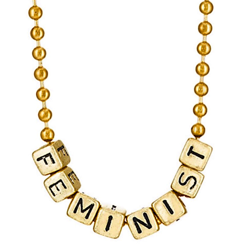 feminist necklace // little lux