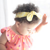fabric knot headband // yellow floral