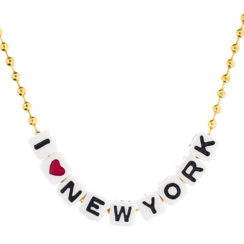 i love new york necklace // little lux