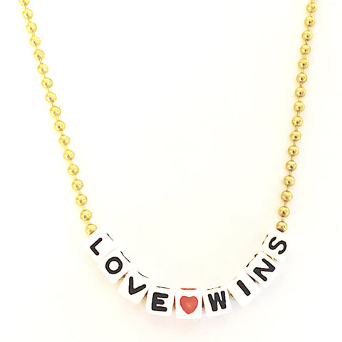 love wins necklace // little lux