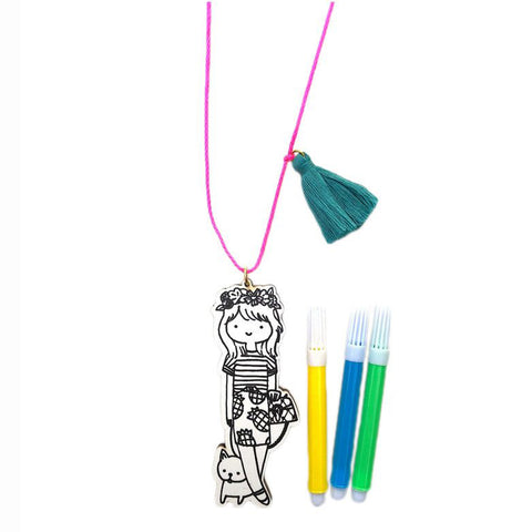 mini fashionista necklace // little lux