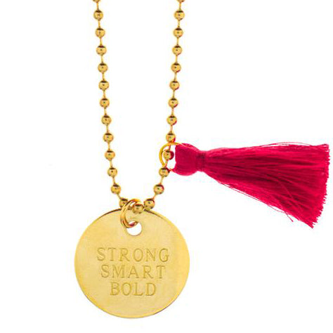 strong, smart, bold GIRL'S INC. necklace // little lux