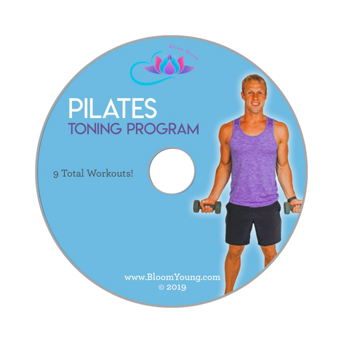Pilates Toning & Calorie Burning DVD - Bloom Young Exercise DVD For Beginners