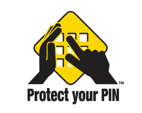Protect Your PIN - ATM 2x2 Decal