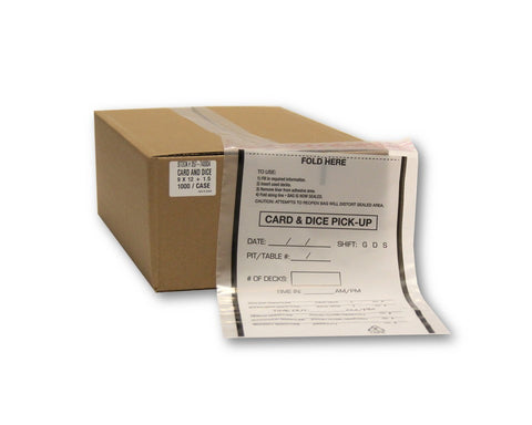 "9"" x 12"" Card & Dice Pick-up Bags - 1,000/carton"