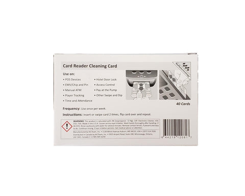 Waffletechnology® Card Reader Cleaning Card