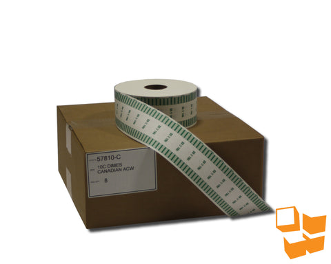 10₵ Canadian Standard Automatic Coin Wrap - 8 rolls/carton