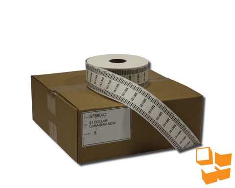 $1 Canadian Standard Automatic Coin Wrap - 8 rolls/carton