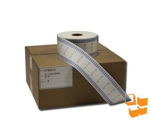 5₵ Canadian Standard Automatic Coin Wrap - 8 rolls/carton