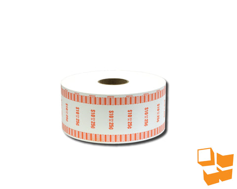 25₵ Canadian Standard Automatic Coin Wrap - Single Roll