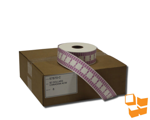 $2 Canadian Standard Automatic Coin Wrap - 8 rolls/carton
