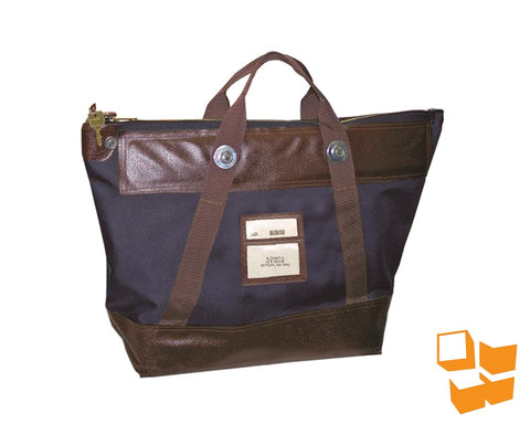 "Heavy-Duty Locking Courier Bag - 22"" x 18"" x 7"" - Navy Blue"