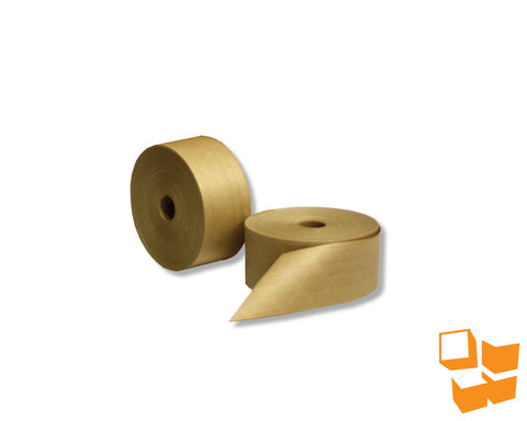 Reinforced Natural Kraft Gummed Tape - 72mm x 150m