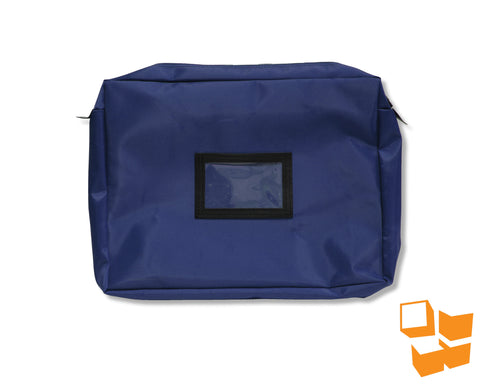 "Keyless Security™ Expandable Inter-Office Mailer 14"" x 18"" x 4"" – Navy Blue"