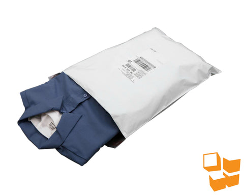 "White Poly Mailers - 12"" x 15.5"" - 500/pack"
