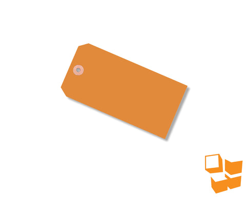 No. 8 Shipping Tags – Orange