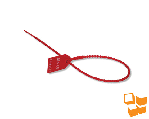 "18"" Heavy Duty Pull Tight Security Seals - Red"