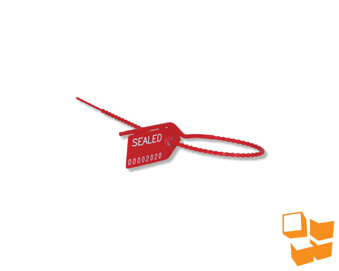 "10"" Medium Duty Pull Tight Security Seals - Red"