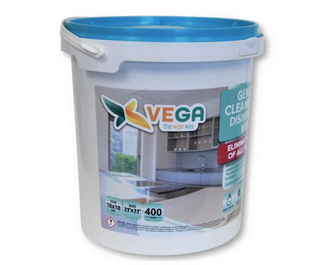 VEGA Disinfectant and General Cleaning Wipes, Bucket