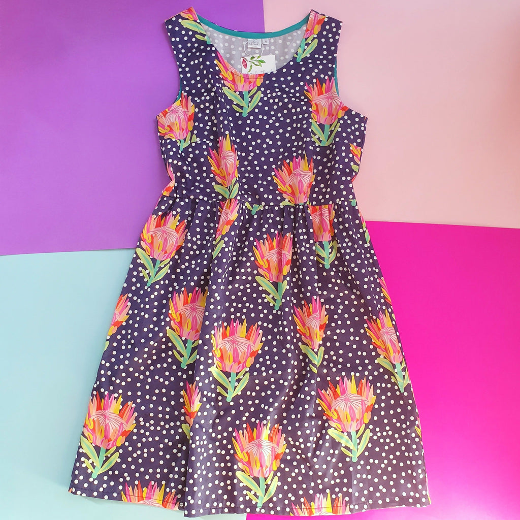 Sundress in Protea Fabric