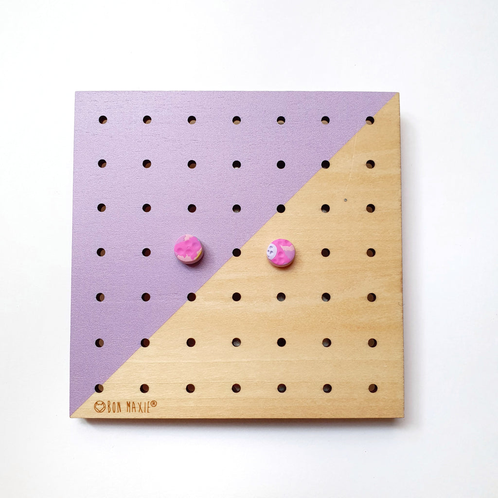 Pretty in pastel teeny stud earrings