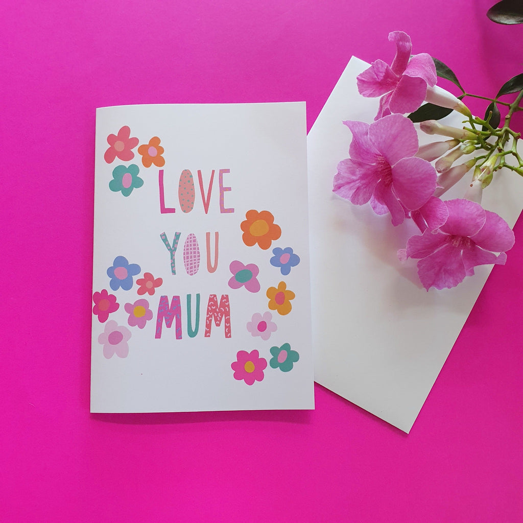 Love You Mum Greeting Card