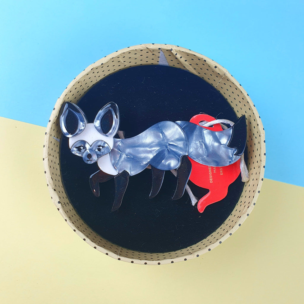 Bat Eared Bestie Fox Brooch from Erstwilder