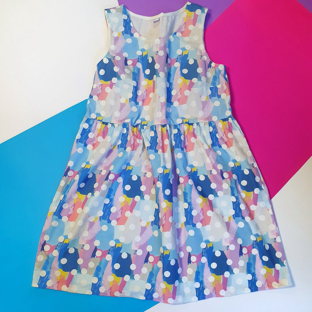 Blue sundress polka dot