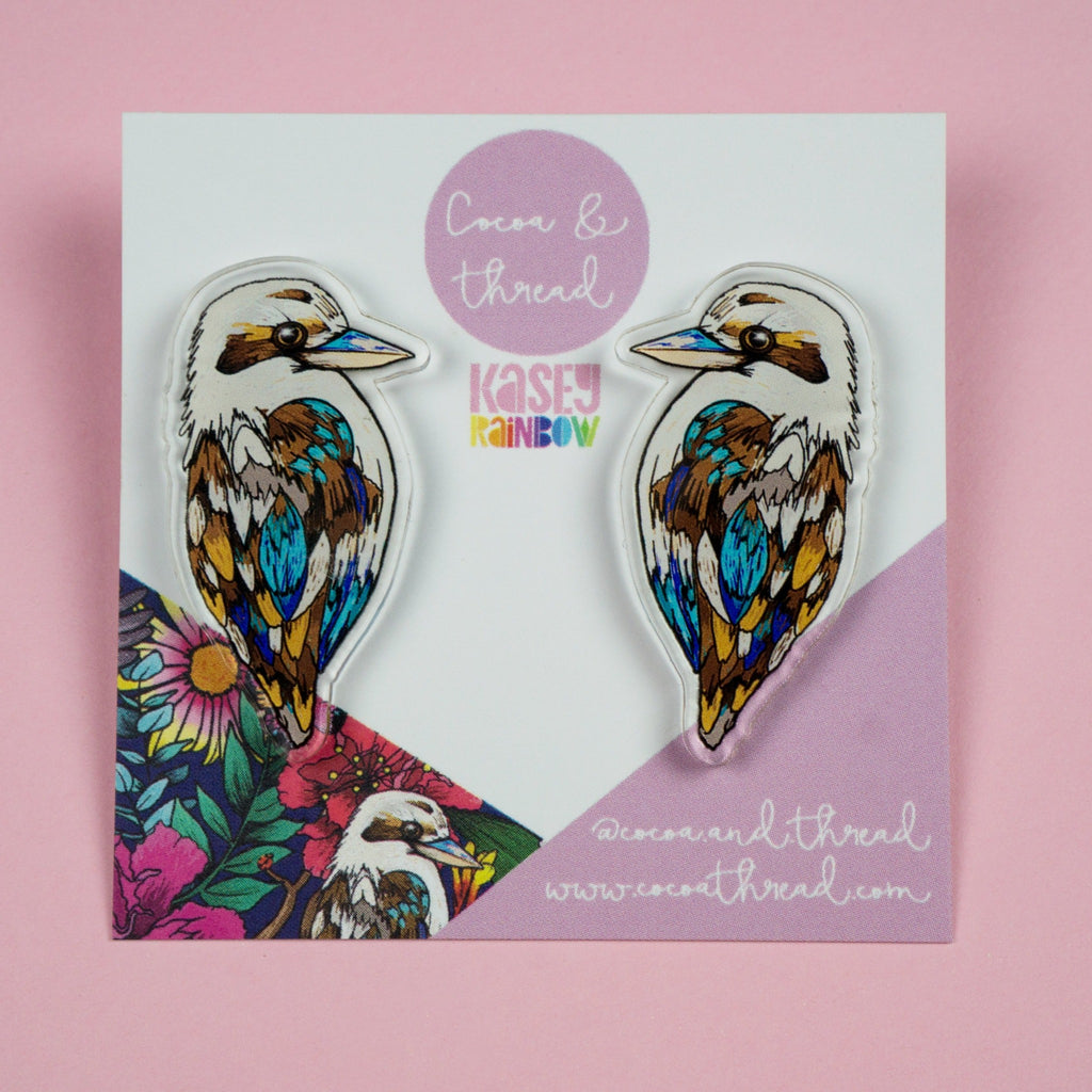 Statement earrings kookaburra