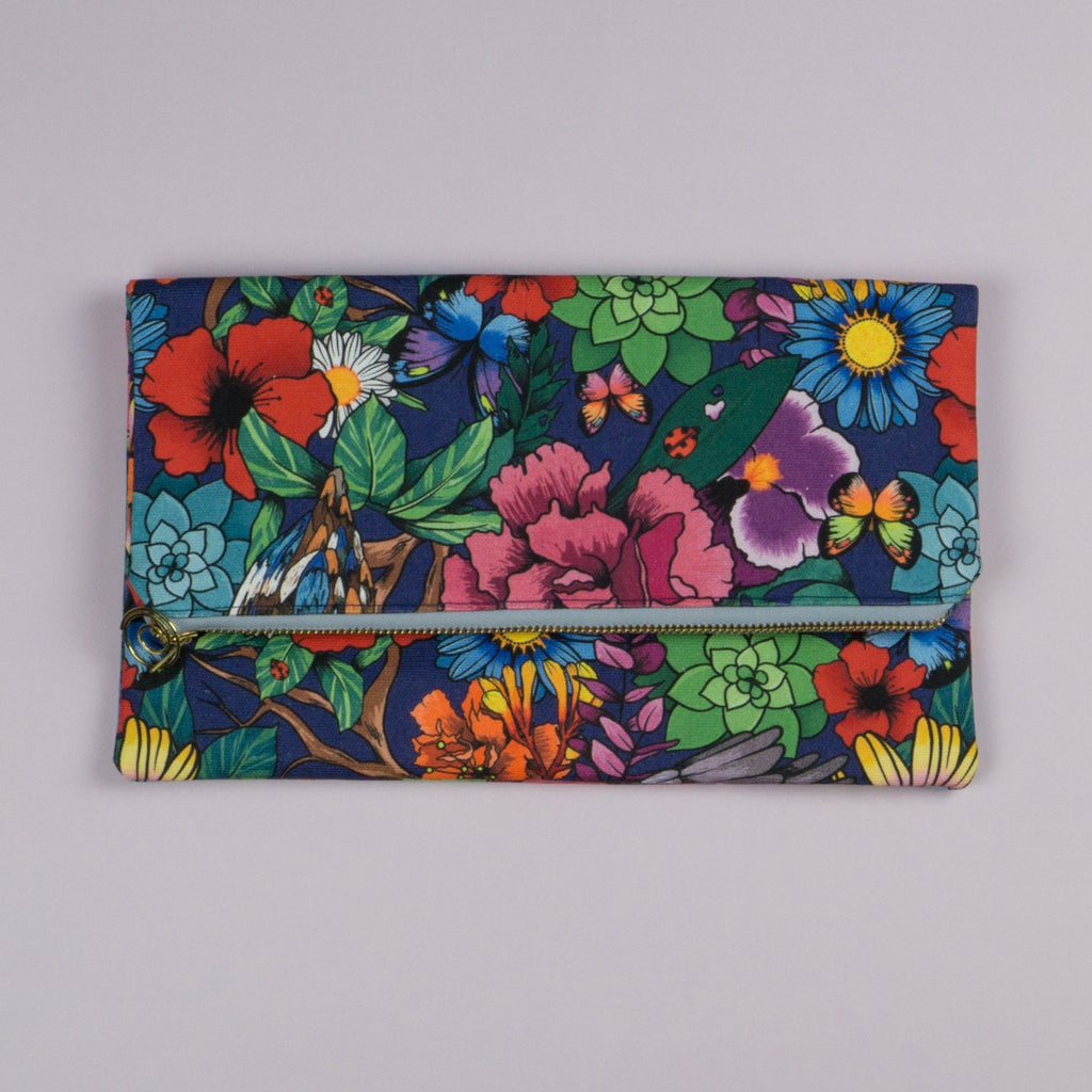 Clutch bag foldover