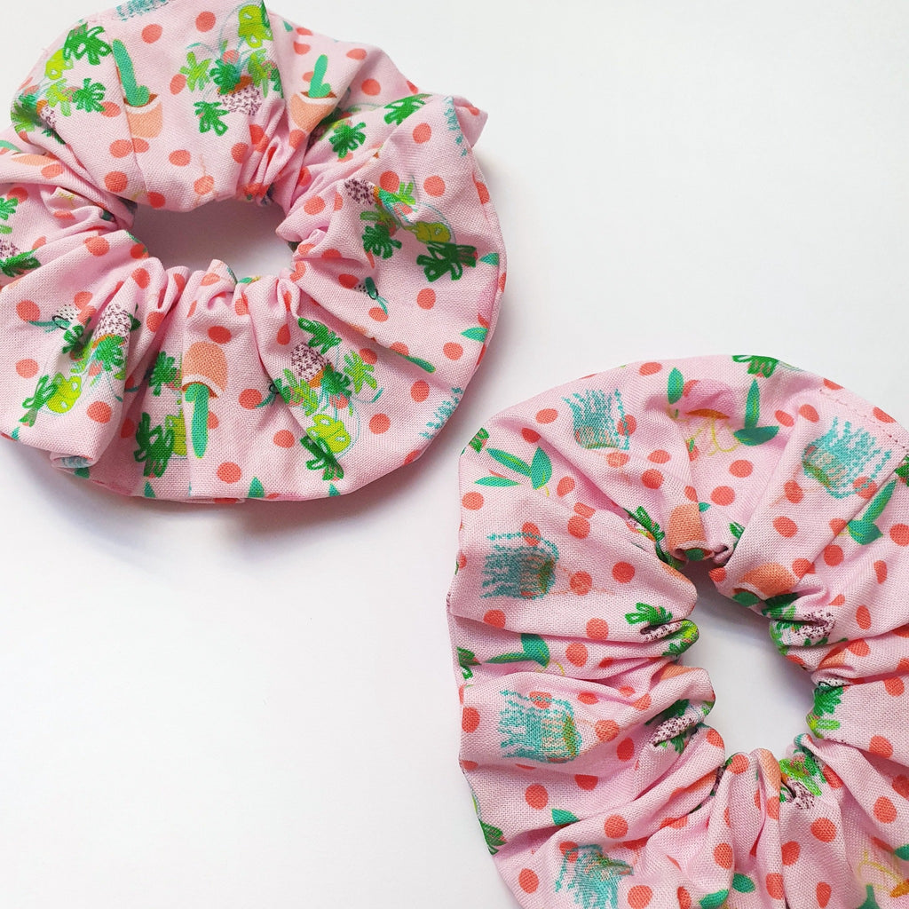 Plant lovers scrunchie, handmade in Australia