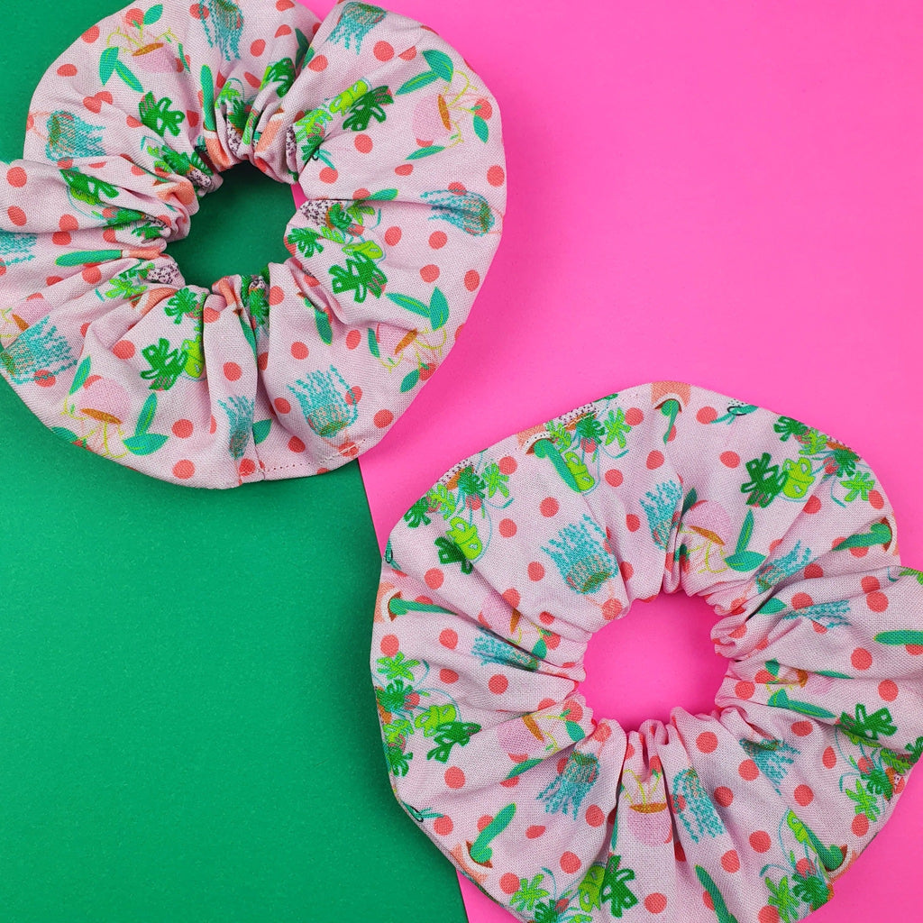 Scrunchie pink and green