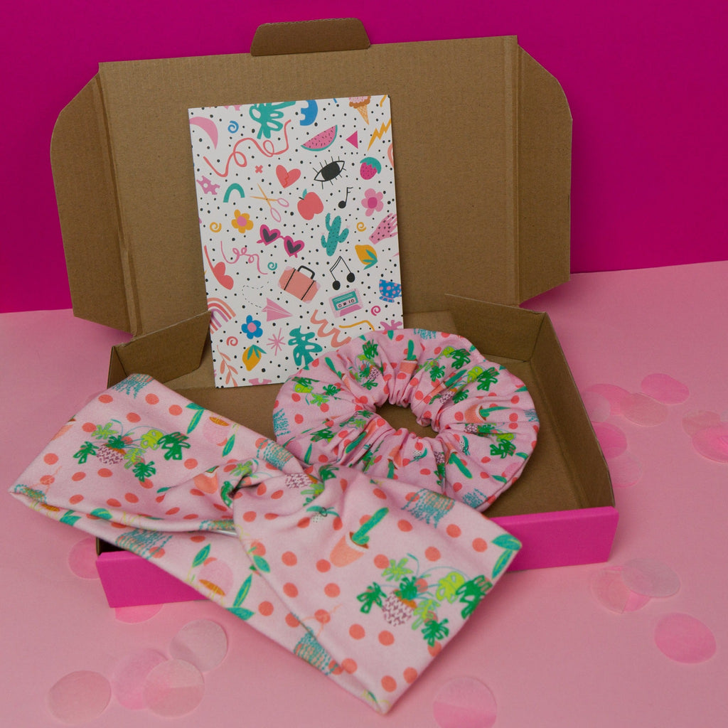 Plant lover gift box with scrunchie, headband and gift card