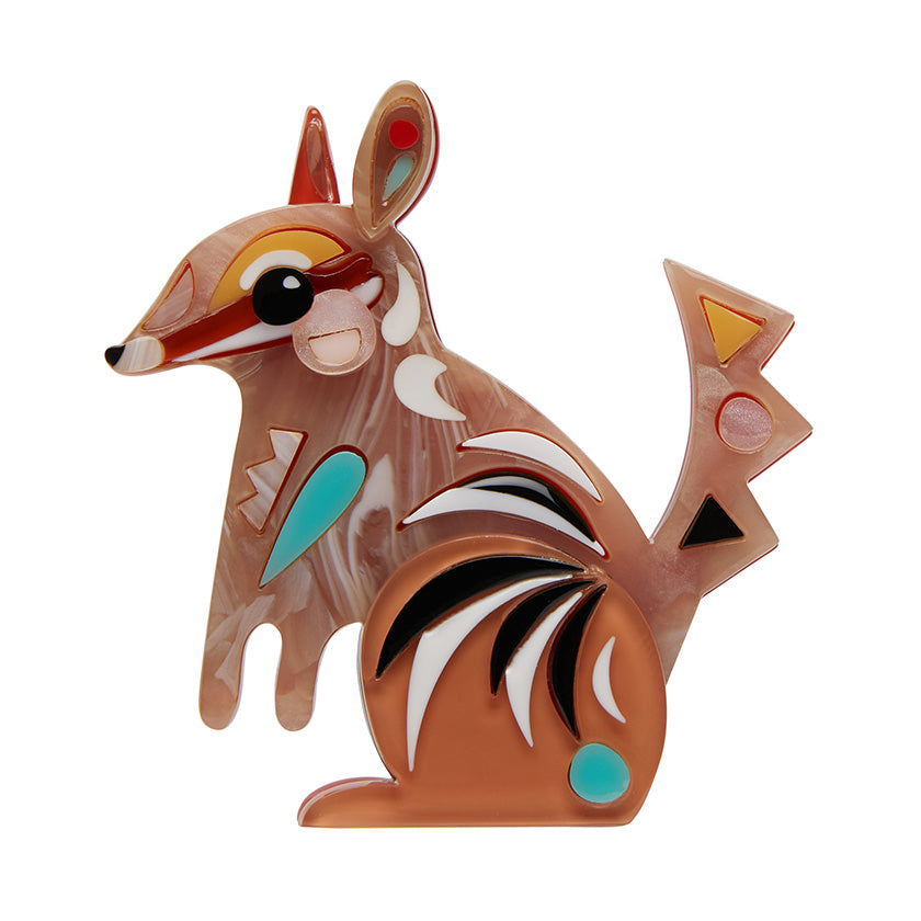 The Notorious Numbat Brooch by Pete Cromer for Erstwilder