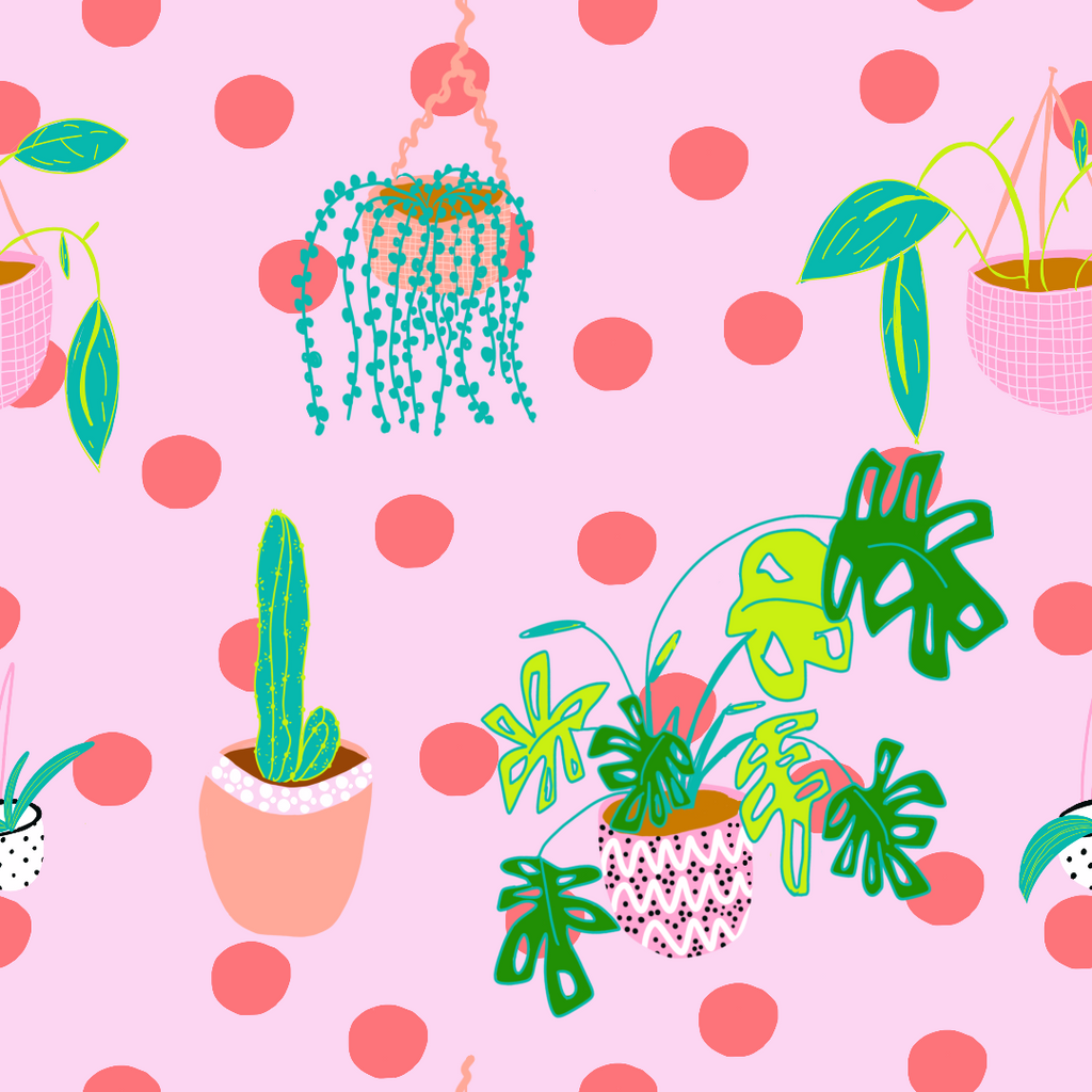 Plant lovers fabric design for indoor plants