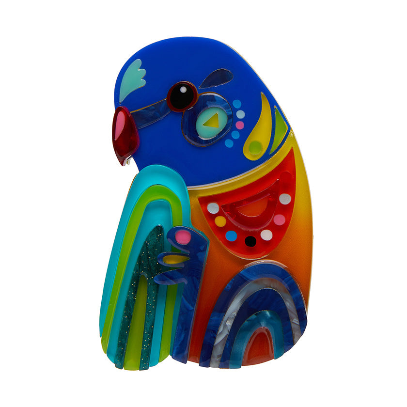 The Radiant Rainbow Lorikeet Brooch by Pete Cromer for Erstwilder