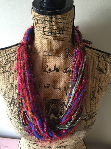 Jeweltone Fiber Necklace